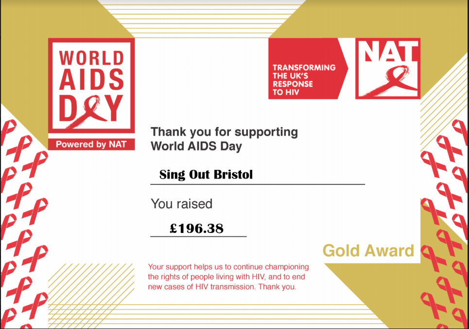 Certificate from National AIDS Trust